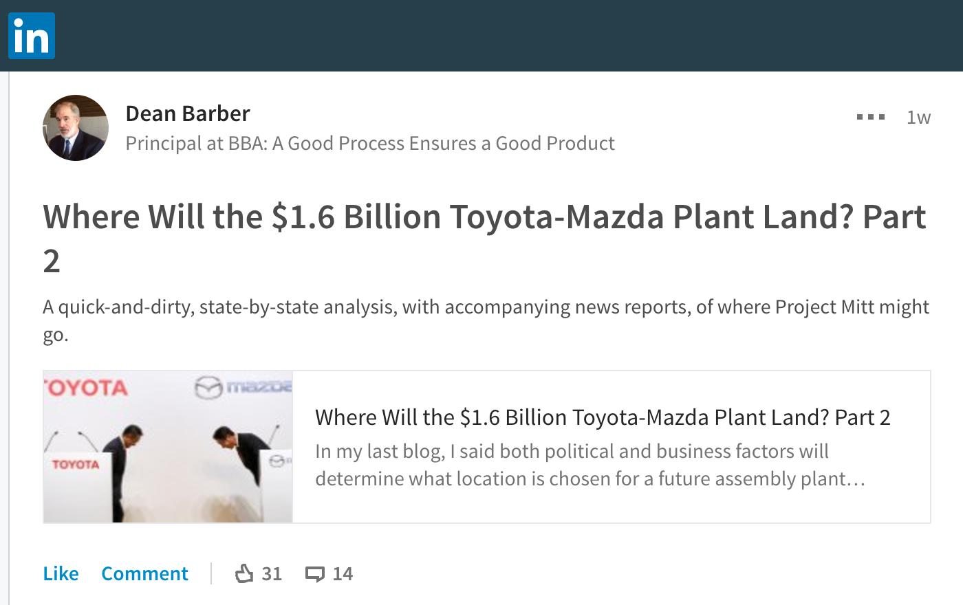 LinkedIn Economic Development Leadership discussion