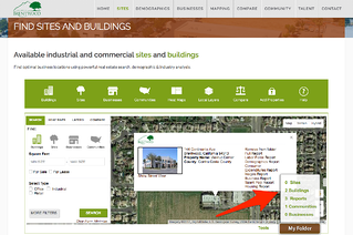 Save sites buildings to your folder on economic development website