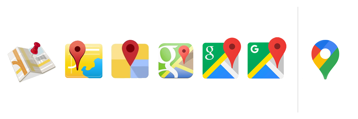 Google Maps Icon Evolution