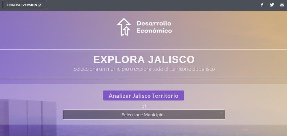 Jalisco top of microsite