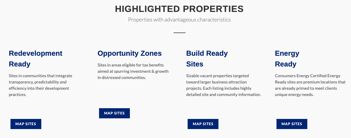 Michigan highlighted properties