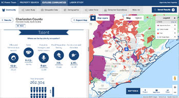 SCPowerTeam map layers profile