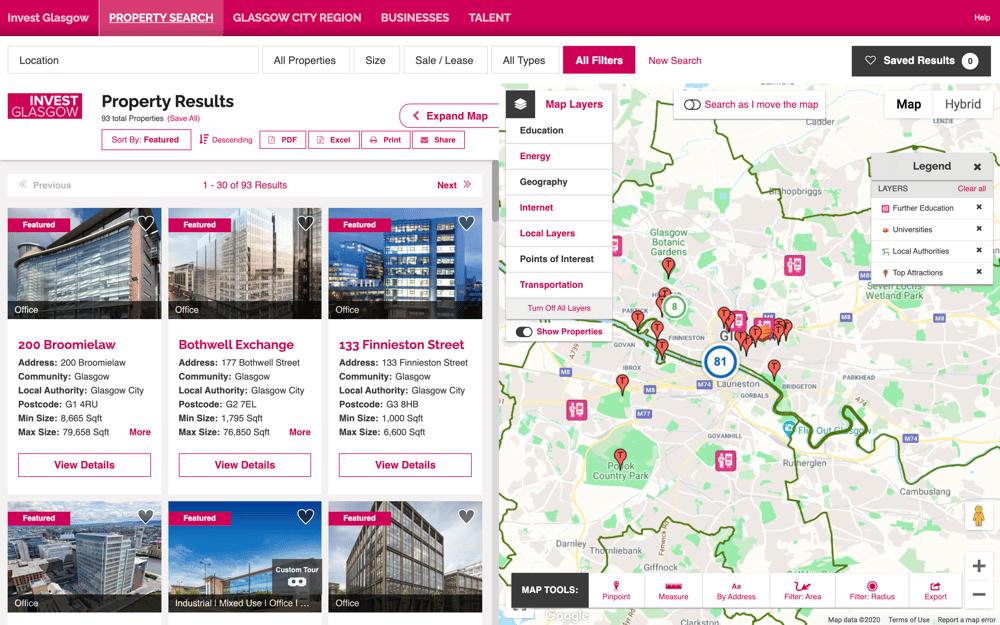 Glasgow City Region investment attraction data portal