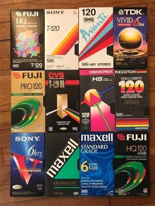 VHS cassette art