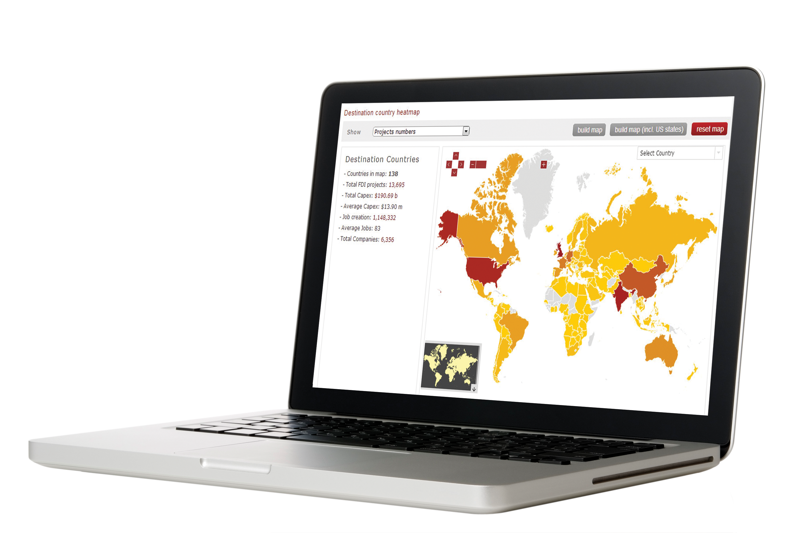 Perpective laptop fdi Markets economic development data
