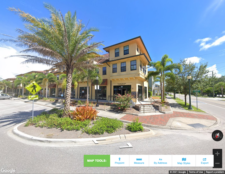 Google street view GIS property listings Florida economic development