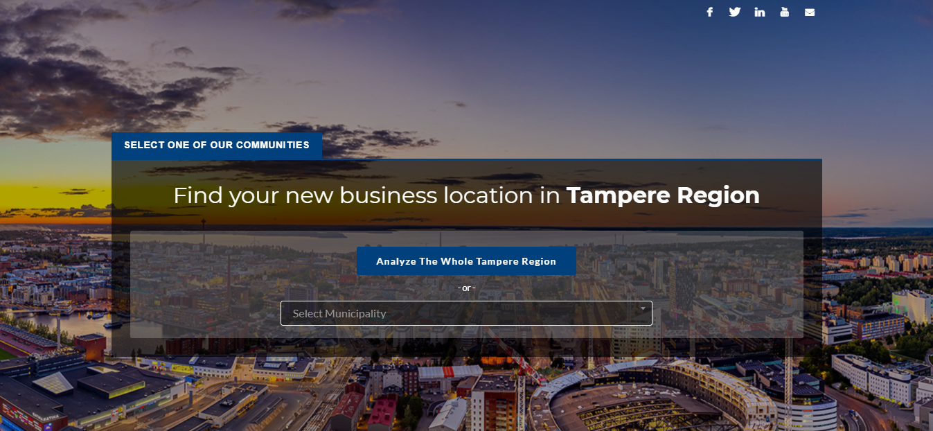 Business Tampere data microsite for investment promotion