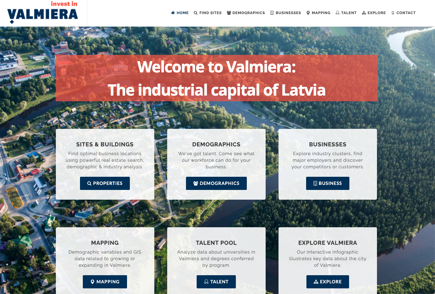 Invest in Valmiera (Latvia) home page