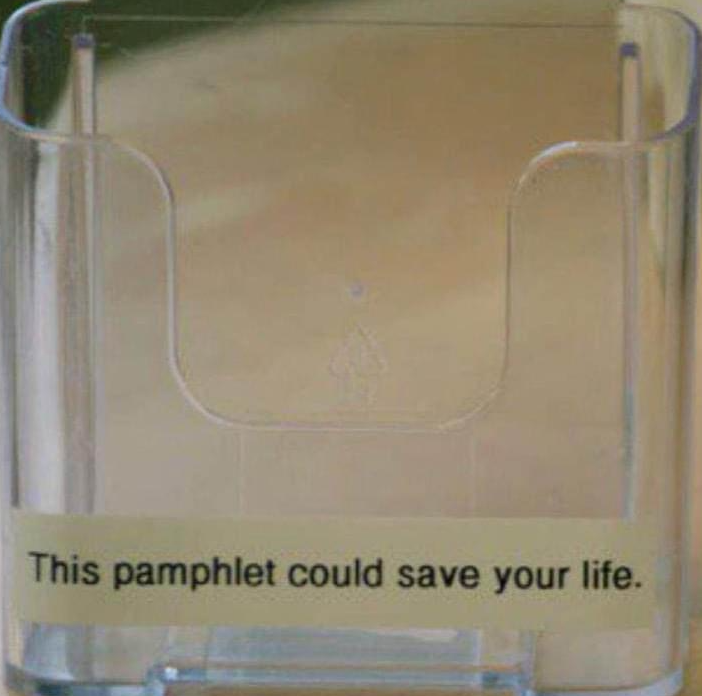 This pamphlet could save your life